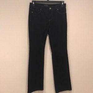 White House Black Market Boot Leg Black Jeans